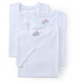Hanes Original Cotton White V-Neck T-Shirts - 3 Pack 777