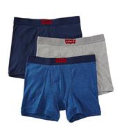 Levis House Mark 100% Cotton Boxer Briefs - 3 Pack ULV6HM04