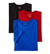 Polo Ralph Lauren Classic Fit 100% Cotton Crew T-Shirts - 3 Pack LCCN